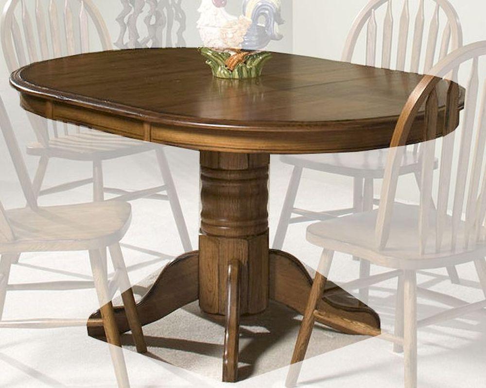 Intercon Solid Oak Pedestal Dining Table Classic Oak With Most Popular Pedestal Dining Tables (View 2 of 15)