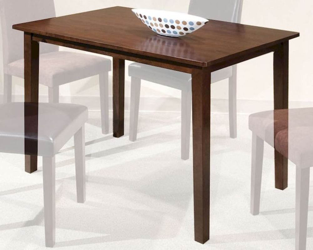 Intercon Solid Rubberwood Dining Table The Loft Inlfx3048Tab Within Latest Wes Counter Height Rubberwood Solid Wood Dining Tables (View 15 of 15)
