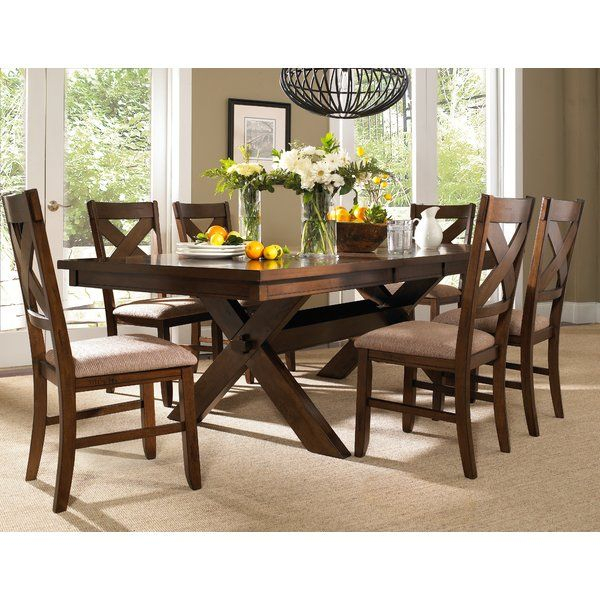 Isabell Extendable Solid Wood Dining Set | Wooden Dining With Regard To Best And Newest Keown 43'' Solid Wood Dining Tables (View 8 of 15)