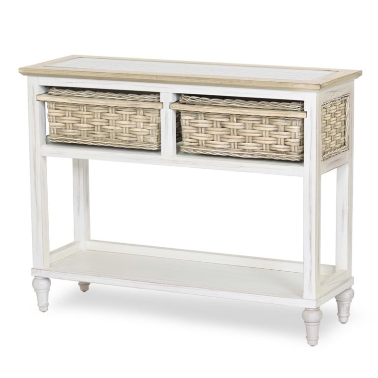 Island Breeze Woven 3 Basket Storage Cabinet   Sea Winds Pertaining To Most Popular Sanibel (View 6 of 15)