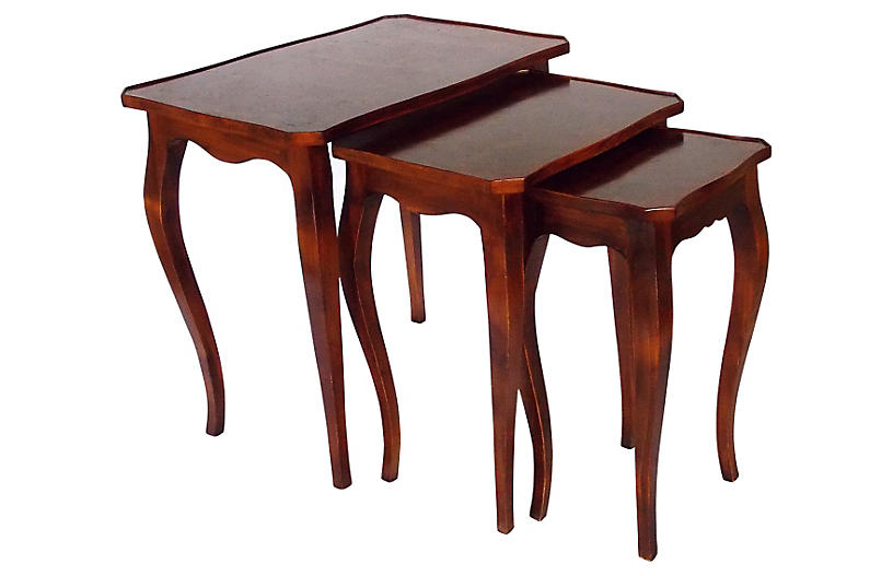 Italian Burl Wood Nesting Tables, S/3 (With Images) | Wood Within Latest Conerly  (View 10 of 15)