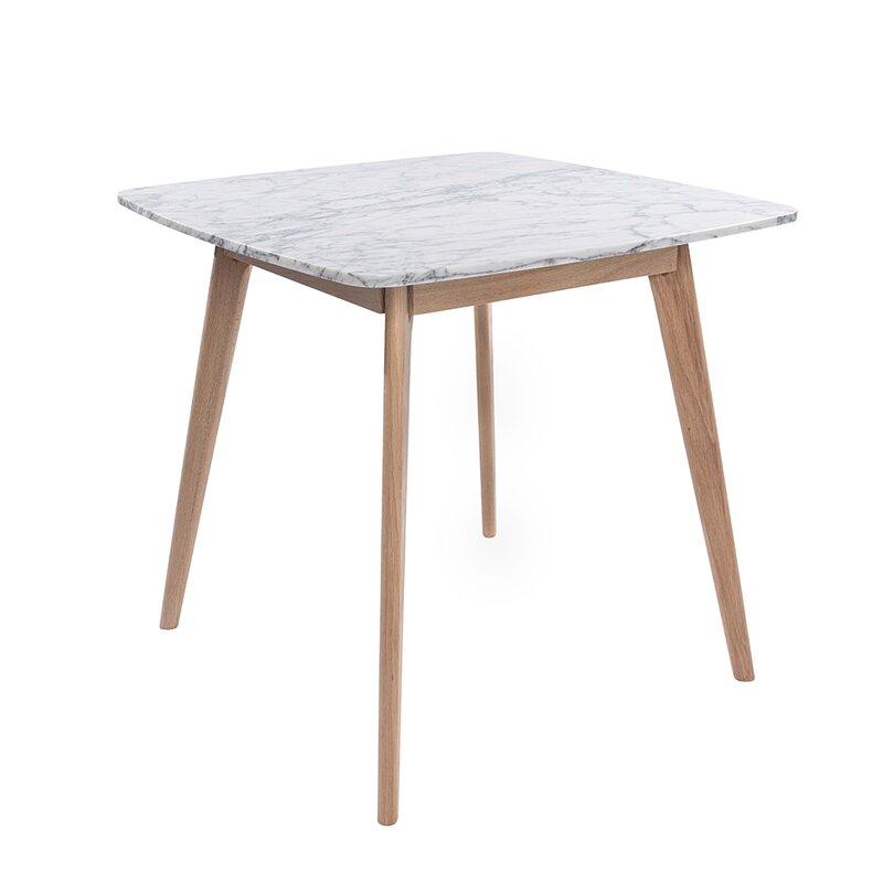 """Ivy Bronx Huldah 39"""" Square Italian Carrara White Marble Inside Most Recent Yaqub 39'' Dining Tables (View 6 of 15)"""