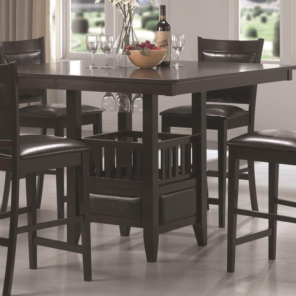 Jaden Collection Casual Dining Counter Height Table With Most Popular Andrelle Bar Height Pedestal Dining Tables (View 9 of 15)