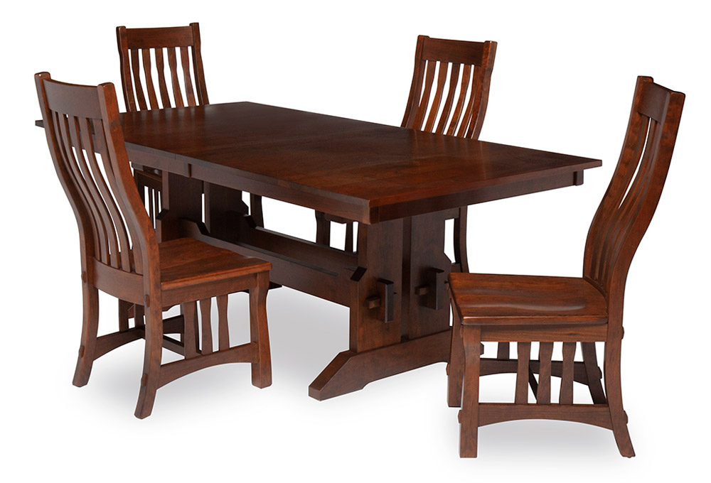 James Butterfly Leaf Extension Wood Table With 4 Side Throughout Recent Warnock Butterfly Leaf Trestle Dining Tables (View 14 of 15)