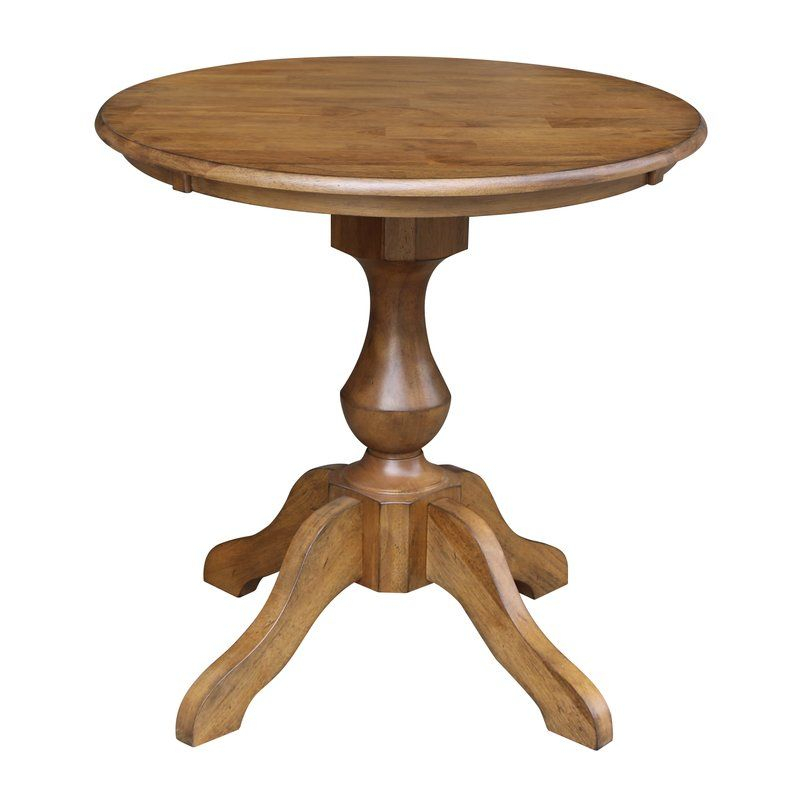 Jane Street Rubberwood Solid Wood Dining Table   Round With Most Popular Boothby Drop Leaf Rubberwood Solid Wood Pedestal Dining Tables (View 11 of 15)