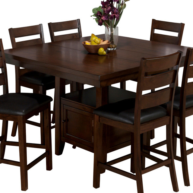 Jofran 337 54 Taylor Butterfly Leaf Counter Height Table For Most Popular Charterville Counter Height Pedestal Dining Tables (View 3 of 15)