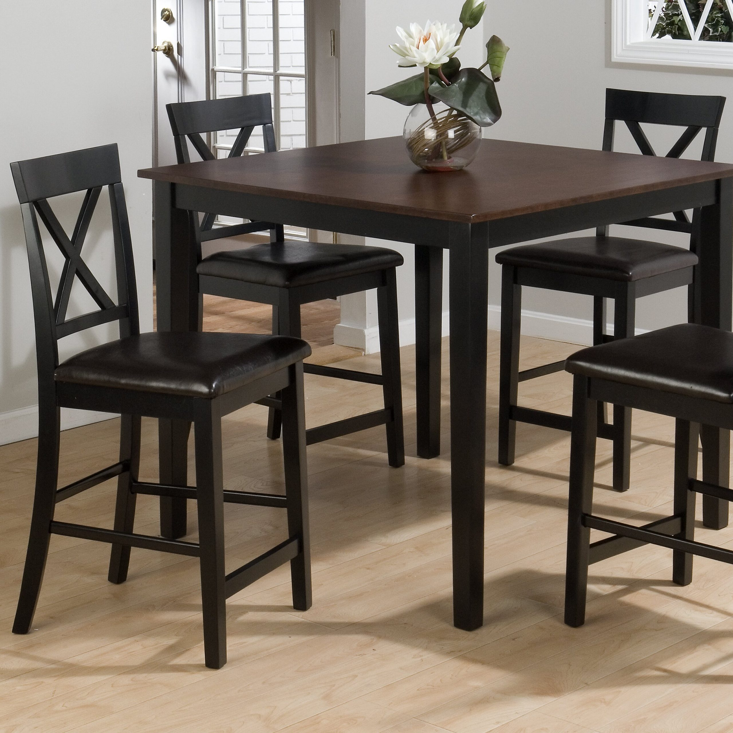 Jofran Burly 5 Piece Counter Height Dining Table Set Within Most Recent Shoaib Counter Height Dining Tables (Photo 5 of 15)