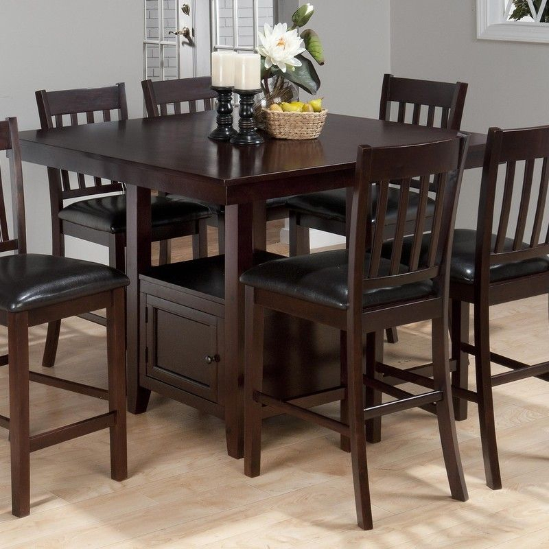 Jofran Tessa Chianti Casual Square Counter Height Table With Regard To Current Counter Height Pedestal Dining Tables (View 7 of 15)
