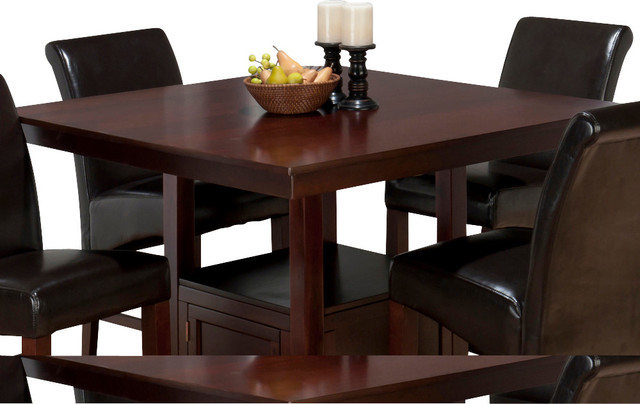 Jofran Tessa Chianti Square Counter Height Table With Pertaining To Current Bushrah Counter Height Pedestal Dining Tables (View 8 of 15)