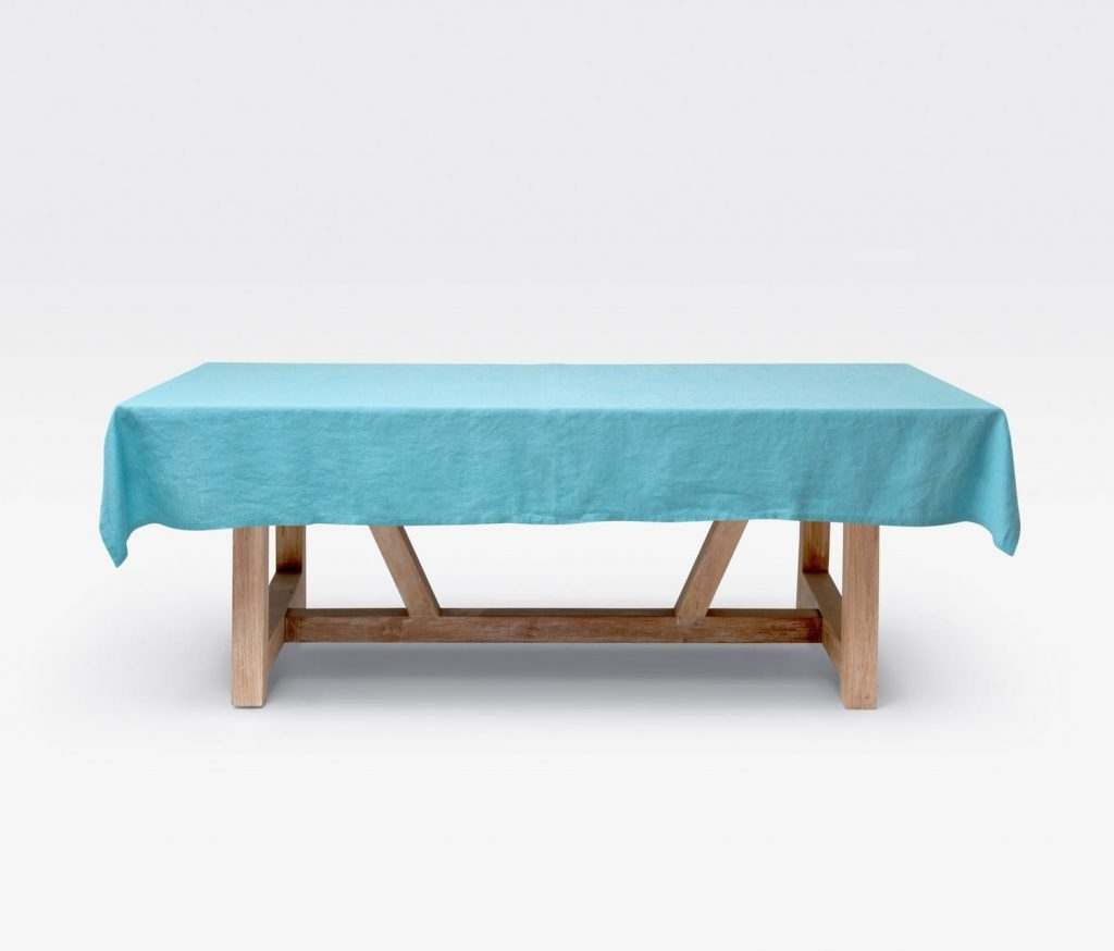 """Johanna Blue 112""""L X 70""""W Rectangular Tablecloth – Harbour For 2017 Murphey Rectangle 112"""" L X 40"""" W Tables (View 9 of 15)"""