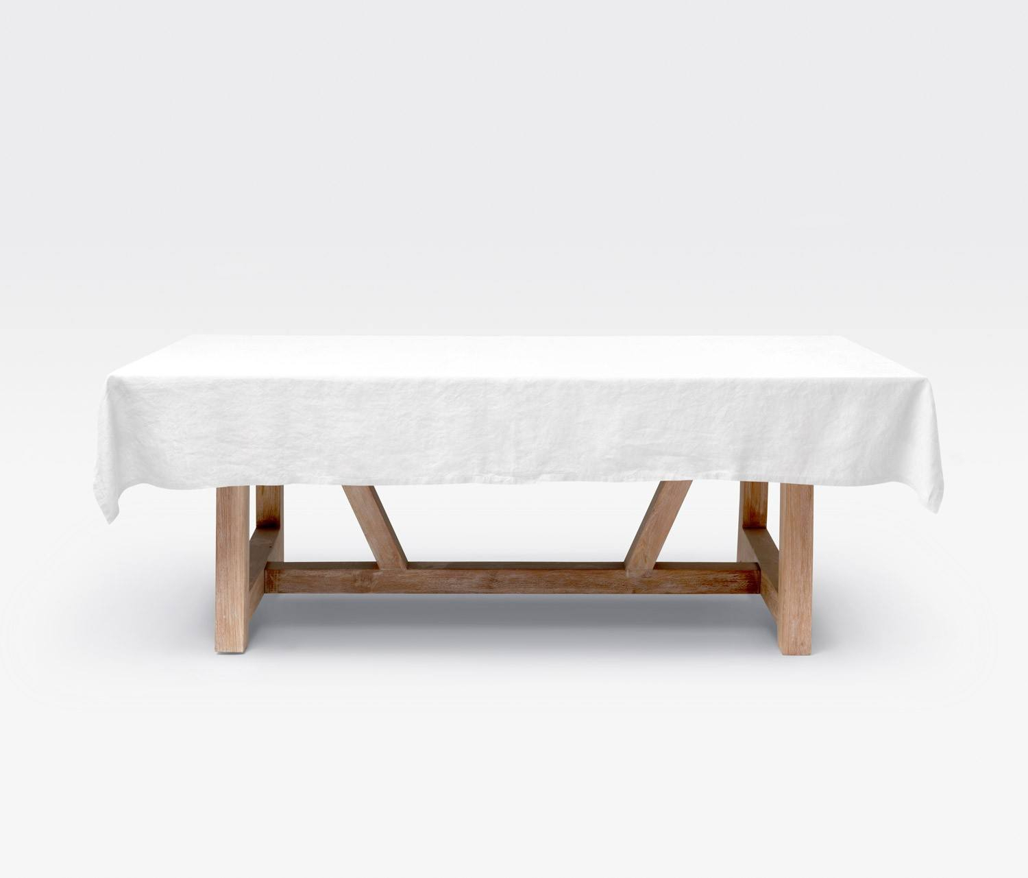 """Johanna White Rectangular 112""""L X 70""""W Tablecloth Pertaining To Latest Murphey Rectangle 112"""" L X 40"""" W Tables (View 10 of 15)"""
