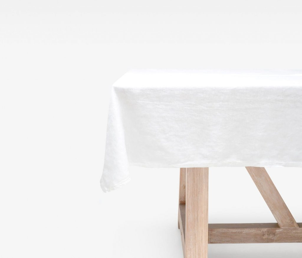 """Johanna White Rectangular 112""""L X 70""""W Tablecloth Pertaining To Most Recently Released Murphey Rectangle 112"""" L X 40"""" W Tables (View 14 of 15)"""