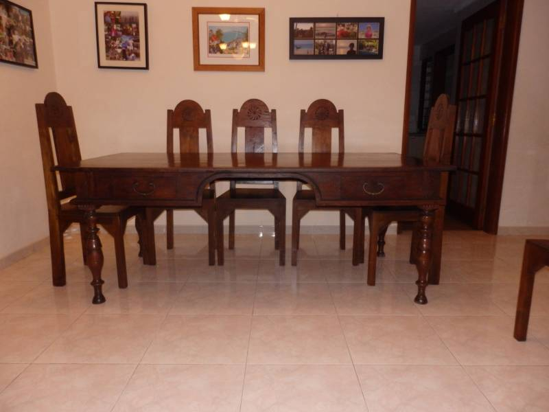 John Erdos 8 Seat Dining Table And Chairs • Singapore Inside Recent Gorla 39'' Dining Tables (View 13 of 15)
