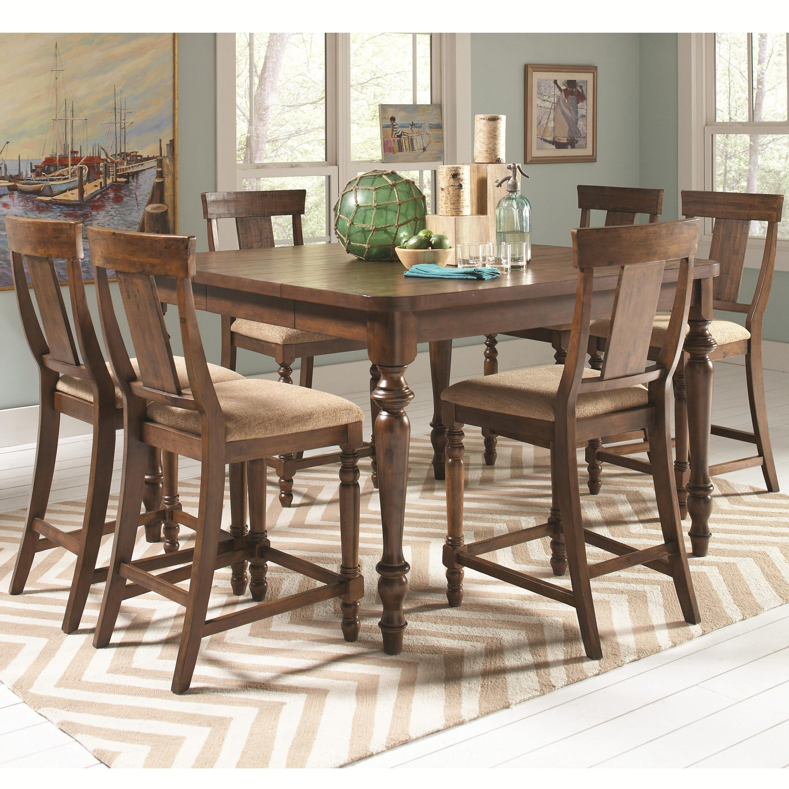 Jonas Counter Height Table With 6 Chairs | Quality Regarding Most Up To Date Counter Height Dining Tables (View 14 of 15)