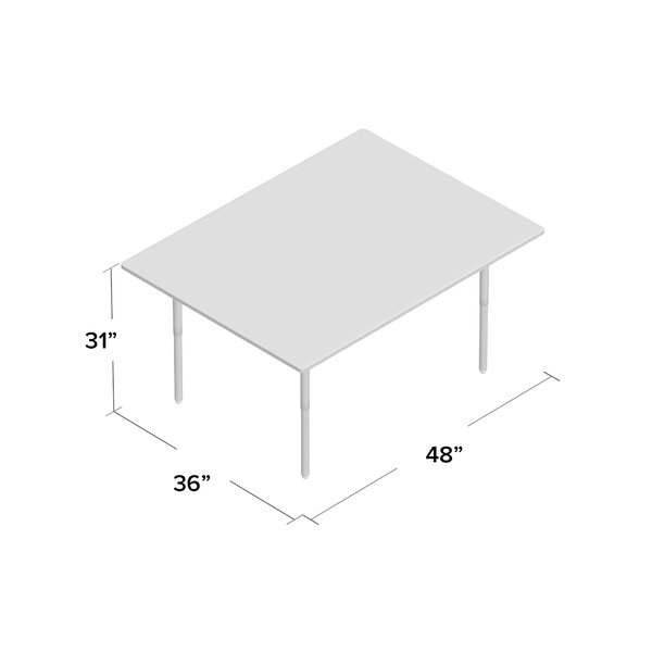 """Jonti Craft® 36"""" X 24"""" Adjustable Height Rectangular Pertaining To Recent Elite Rectangle 48"""" L X 24"""" W Tables (View 15 of 15)"""
