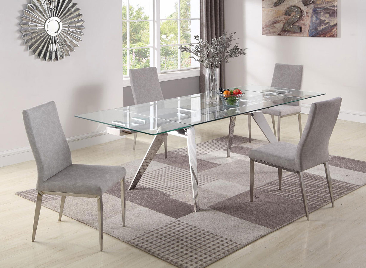 Josie Dining Room Set W/ Desiree Chairs Chintaly Imports Intended For Most Current Desiree (View 8 of 15)
