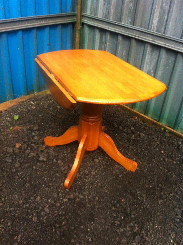 Julian Bowen Solid Pine Pedestal Drop Leaf Dining Table In Regarding Best And Newest Finkelstein Pine Solid Wood Pedestal Dining Tables (View 11 of 15)