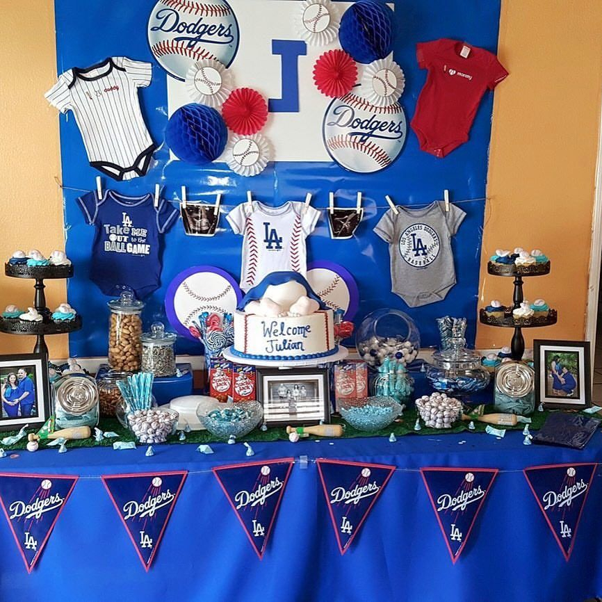 Julian'S Baby Shower 4/2/2016 Dodger Baby Shower #La# Inside Newest Candie  (View 11 of 15)