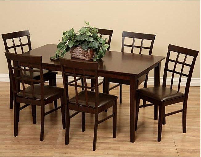 Justin 7 Piece Solid Wood Dining Set | Solid Wood Dining Within Most Recent Justine (View 4 of 15)
