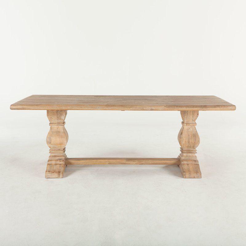 Katharine Mango Solid Wood Dining Table   Mango Wood Pertaining To 2018 Alfie Mango Solid Wood Dining Tables (View 3 of 15)