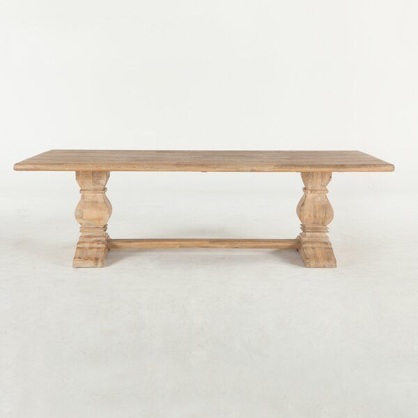 Katharine Mango Solid Wood Dining Table | Trestle Dining Regarding Best And Newest Mccrimmon 36'' Mango Solid Wood Dining Tables (View 11 of 15)
