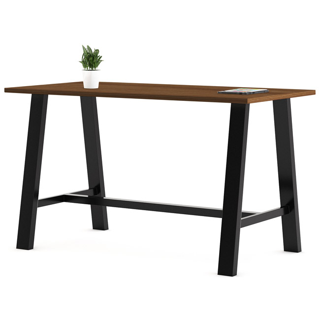"""Kfi Seating Midtown Rectangle Cafe Table (42"""" X 72 With Recent Midtown Solid Wood Breakroom Tables (View 9 of 15)"""