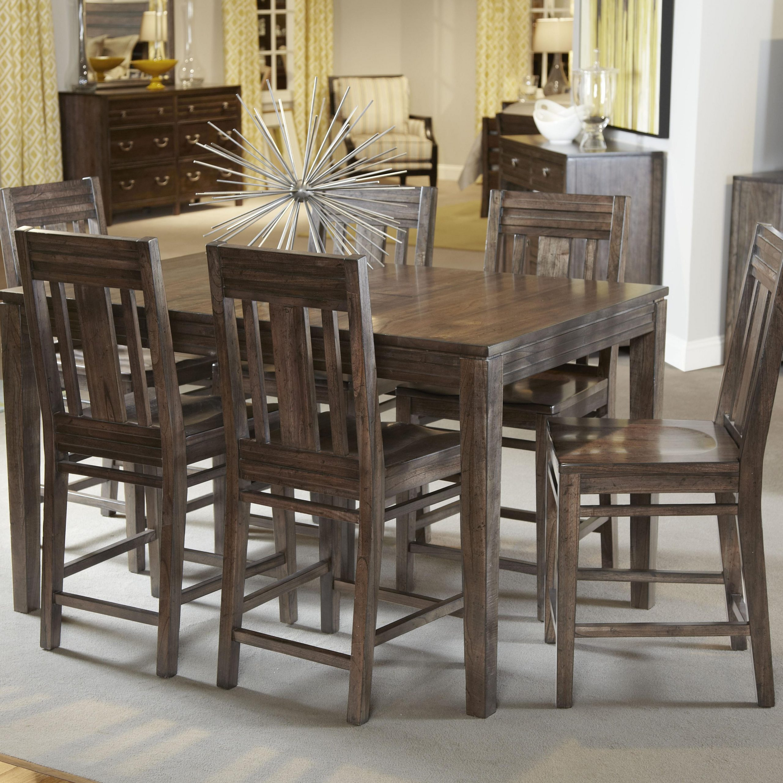 Kincaid Furniture Montreat Seven Piece Casual Counter For Best And Newest Shoaib Counter Height Dining Tables (Photo 2 of 15)