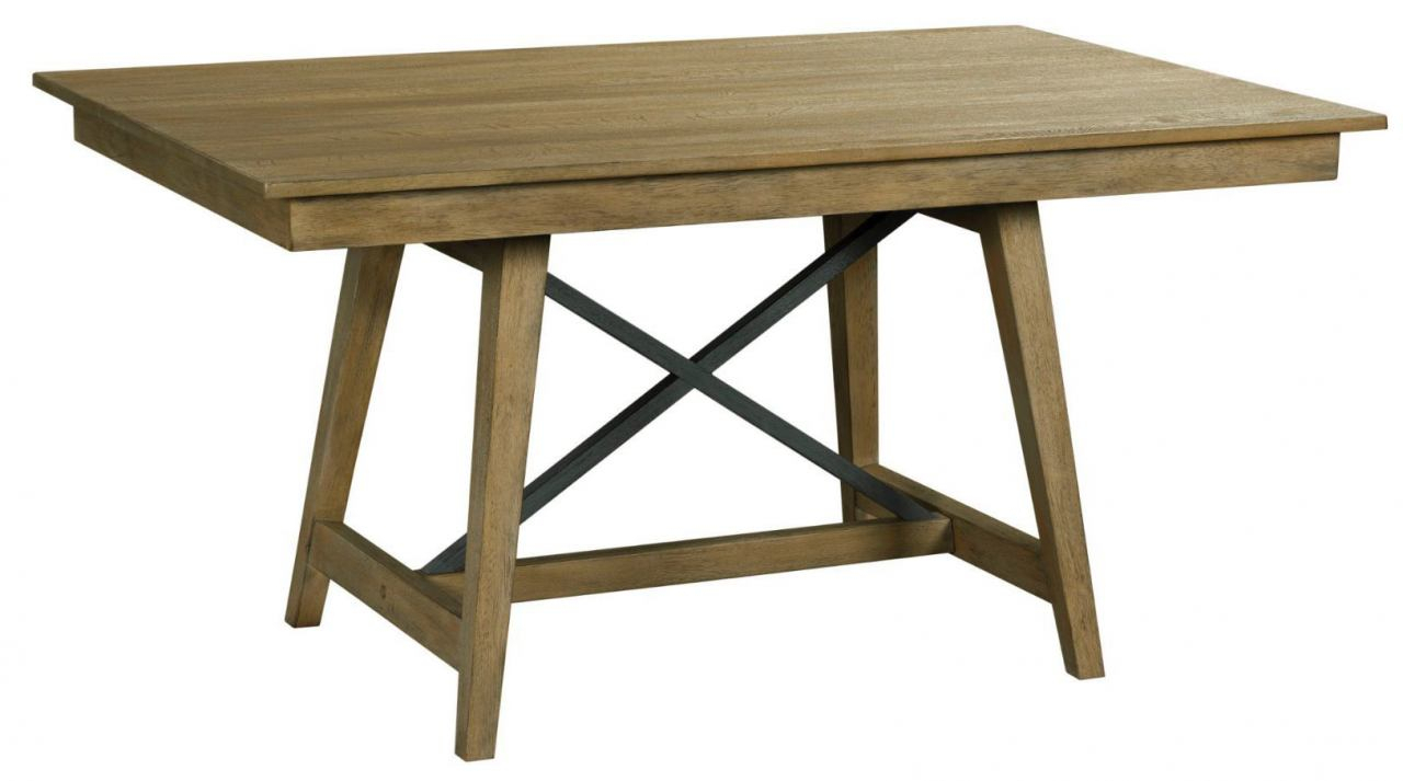 """Kincaid Furniture The Nook 60"""" Trestle Table In Brushed With Best And Newest Alexxes 38'' Trestle Dining Tables (View 7 of 15)"""