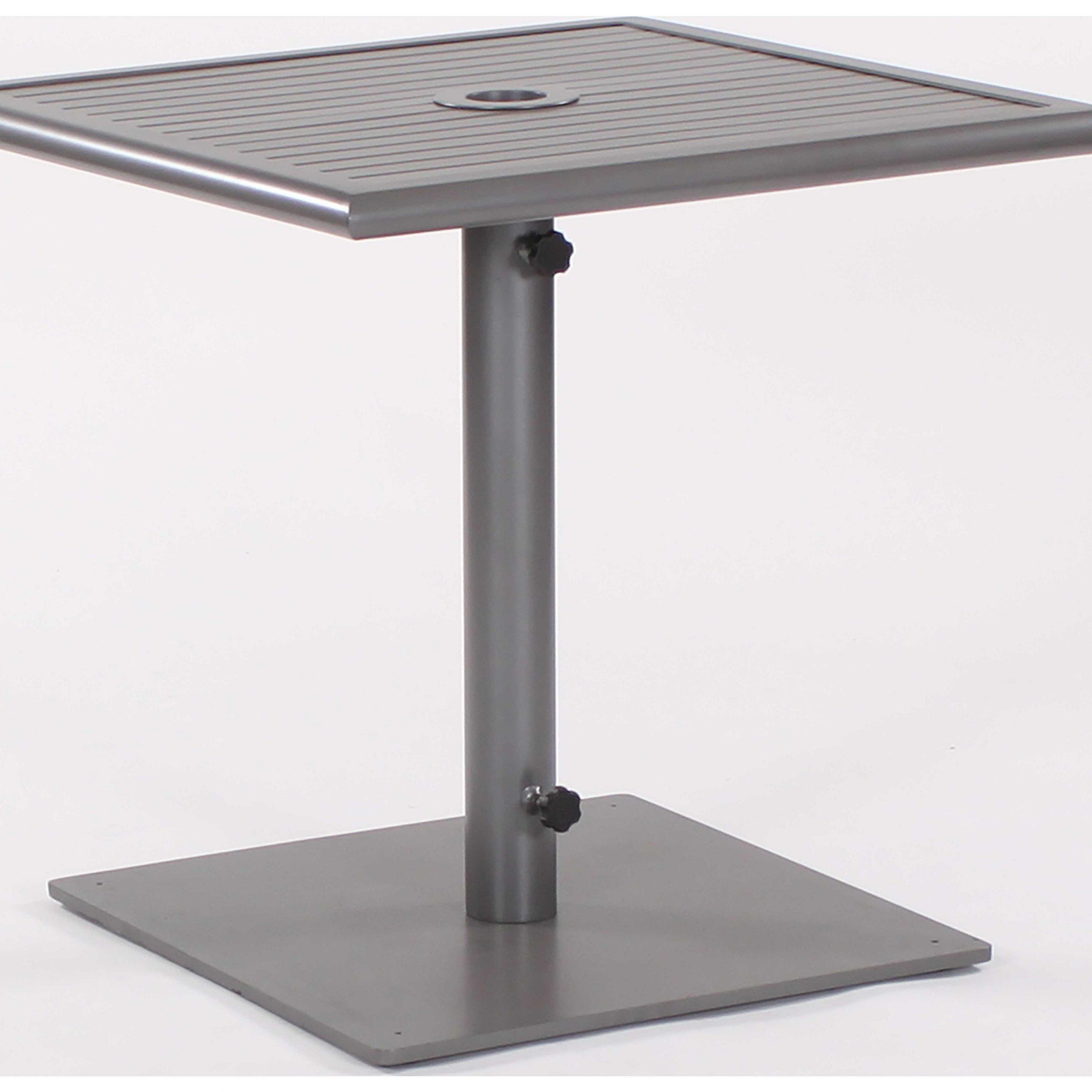Koverton Linear Extruded Aluminum & Steel 32 Square Inside Most Popular Hemmer 32'' Pedestal Dining Tables (View 7 of 15)