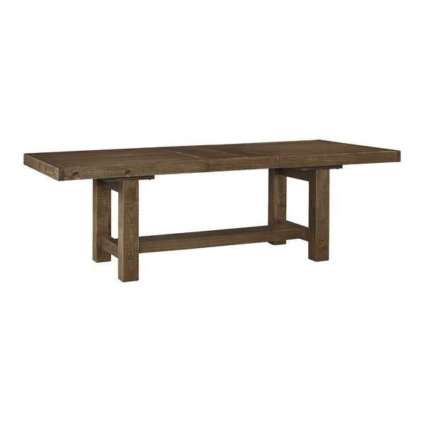 Featured Image of Minerva 36'' Pine Solid Wood Trestle Dining Tables