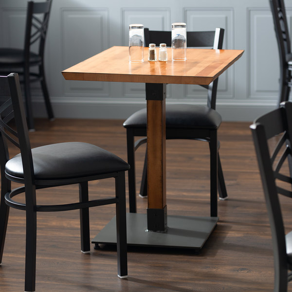 """Lancaster Table & Seating 24"""" X 30"""" Solid Wood Live Edge With Most Popular Adsila 24'' Dining Tables (View 12 of 15)"""