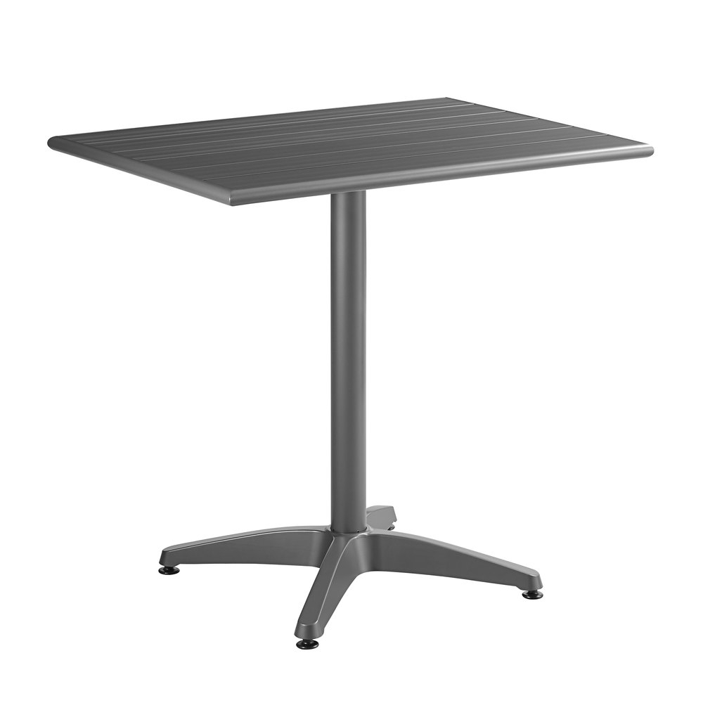 """Lancaster Table & Seating 24"""" X 32"""" Matte Gray Powder With Regard To Most Up To Date Cainsville 32'' Dining Tables (View 8 of 15)"""