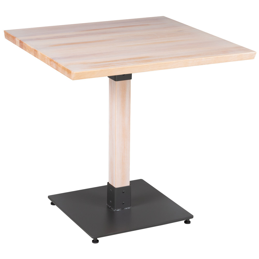 """Lancaster Table & Seating 30"""" Square Solid Wood Live Edge Intended For Best And Newest Elderton 30'' Solid Wood Dining Tables (View 12 of 15)"""
