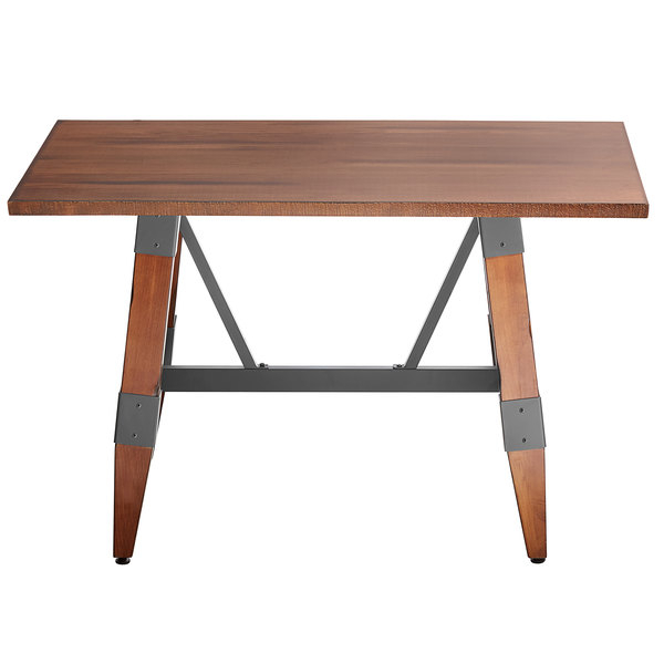 """Lancaster Table & Seating 30"""" X 48"""" Solid Wood Live Edge Throughout Newest Elderton 30'' Solid Wood Dining Tables (View 11 of 15)"""