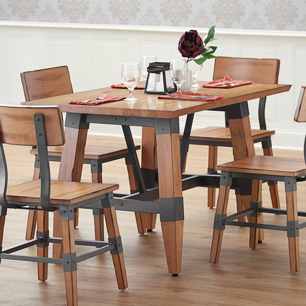 """Lancaster Table & Seating 30"""" X 48"""" Solid Wood Live Edge With Regard To Most Popular Elderton 30'' Solid Wood Dining Tables (View 14 of 15)"""