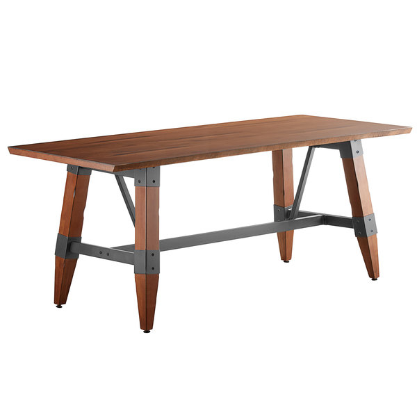 """Lancaster Table & Seating 30"""" X 72"""" Solid Wood Live Edge With Regard To Latest Elderton 30'' Solid Wood Dining Tables (View 6 of 15)"""