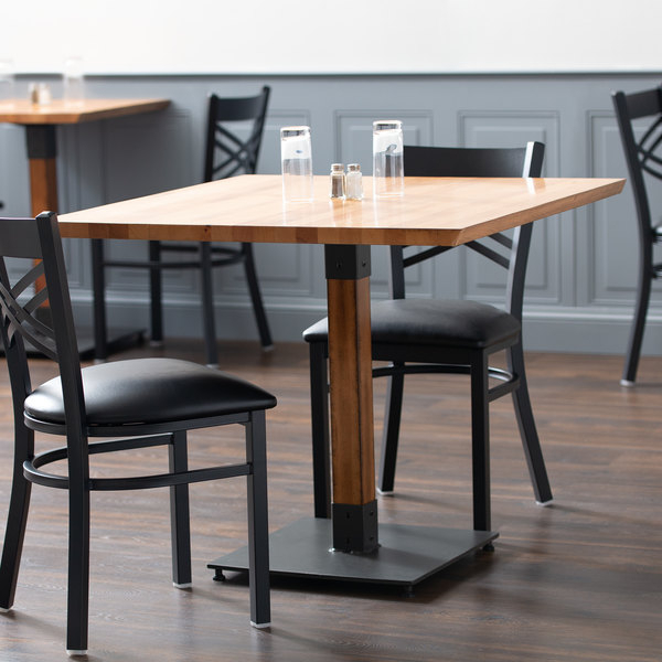 """Lancaster Table & Seating 36"""" Square Solid Wood Live Edge With Regard To Most Current Hitchin 36'' Dining Tables (View 3 of 15)"""