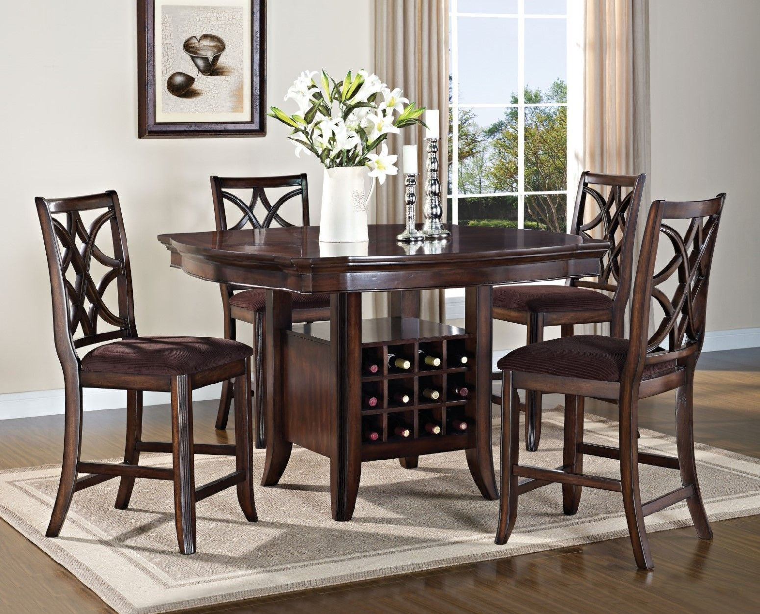 Featured Image of Barra Bar Height Pedestal Dining Tables