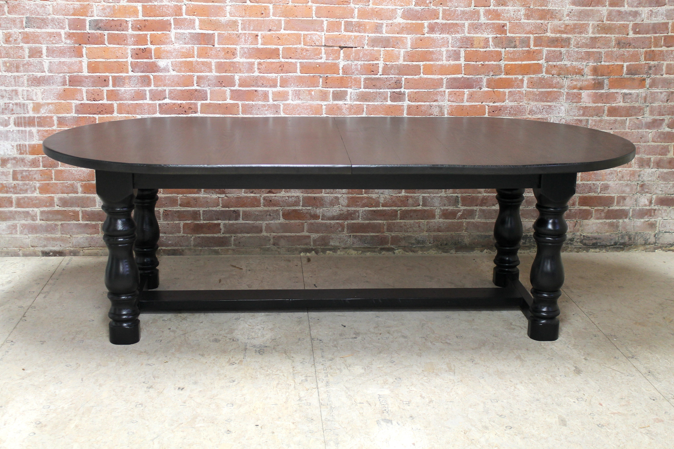 Large Georgian Oval Trestle Table With Extensions For 2018 Adams Drop Leaf Trestle Dining Tables (View 13 of 15)