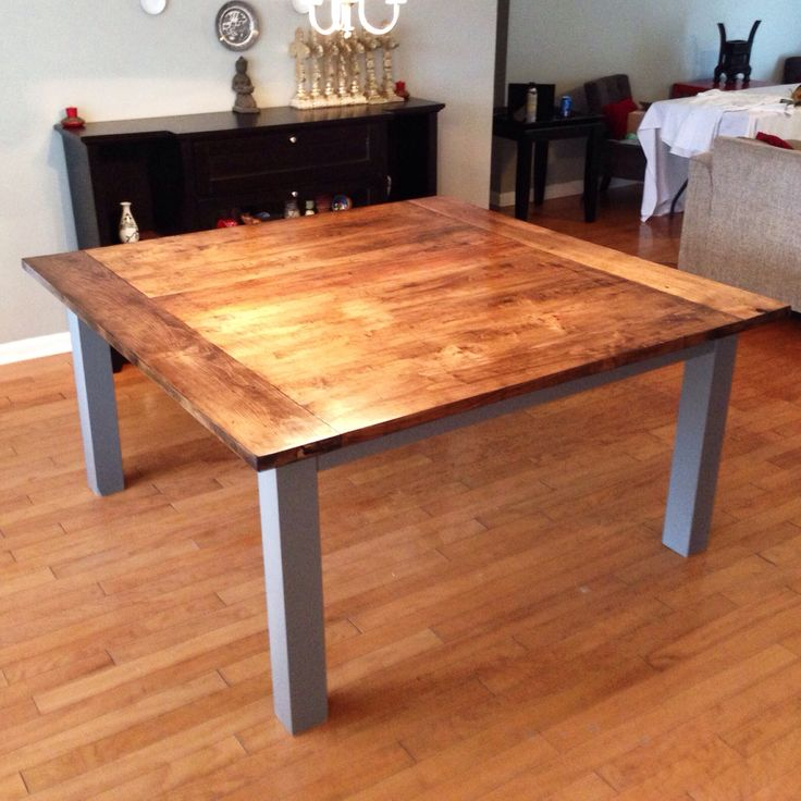 Large Stained Maple, Solid Wood Dining Table (View 15 of 15)