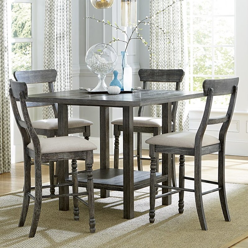 Lark Manor Erondelle Counter Height Dining Table & Reviews Intended For Most Up To Date Mciver Counter Height Dining Tables (View 13 of 15)