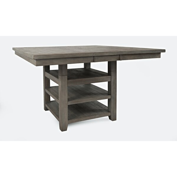 Laurel Foundry Modern Farmhouse Jarod Extendable Pine With Most Recent Reagan Pine Solid Wood Dining Tables (View 11 of 15)