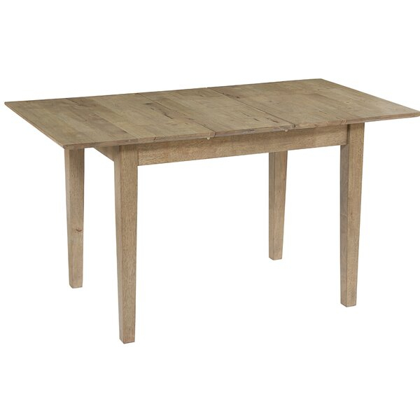 Laurel Foundry Modern Farmhouse Jayce Butterfly Extendable Inside Best And Newest Katarina Extendable Rubberwood Solid Wood Dining Tables (View 11 of 15)