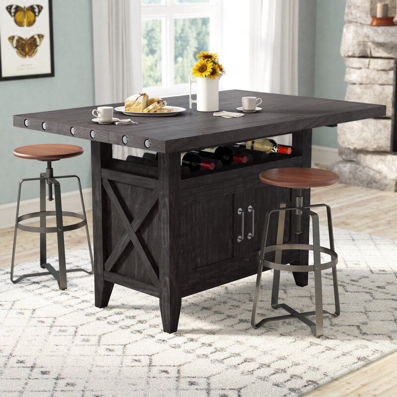 Laurel Foundry Modern Farmhouse Langsa Counter Height Intended For Current Abby Bar Height Dining Tables (Photo 6 of 15)