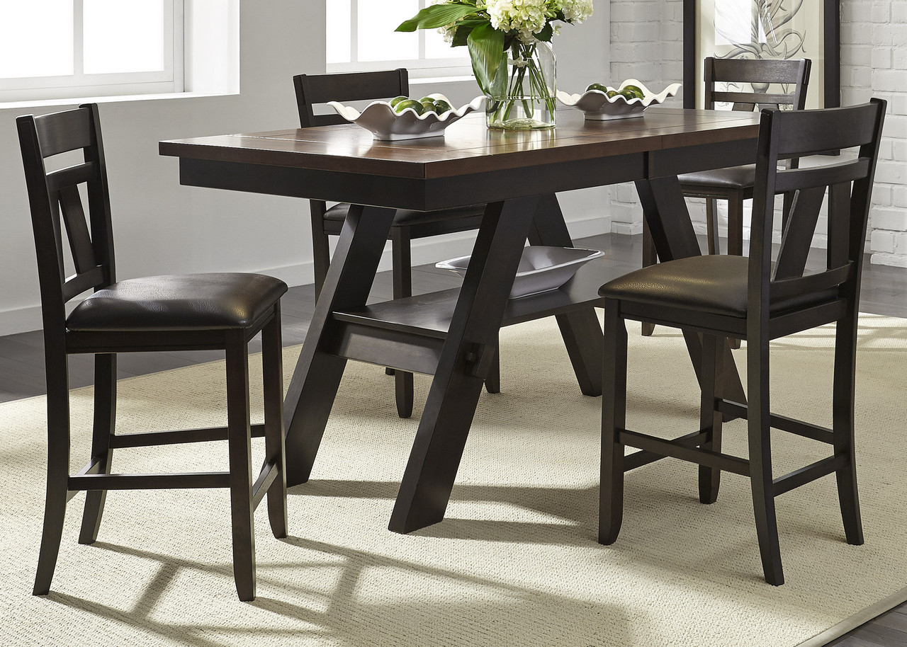 """Lawson 66"""" 78"""" Counter Height Pedestal Dining Table Set In Inside Most Up To Date Pedestal Dining Tables (View 7 of 15)"""
