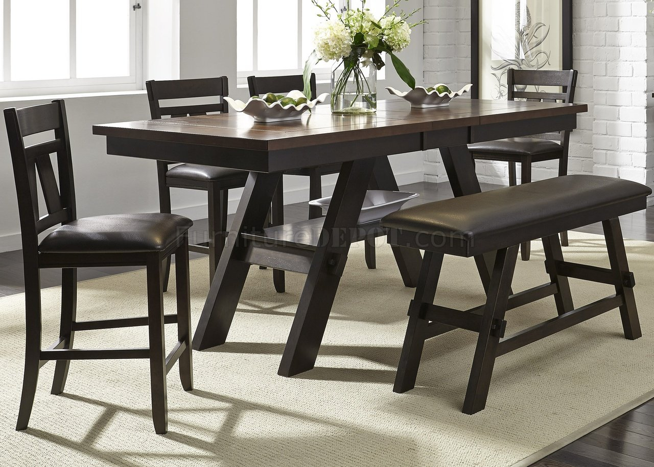 Lawson Counter Height Table 5Pc Set 116 Cd – Espresso Regarding 2018 Pennside Counter Height Dining Tables (View 13 of 15)