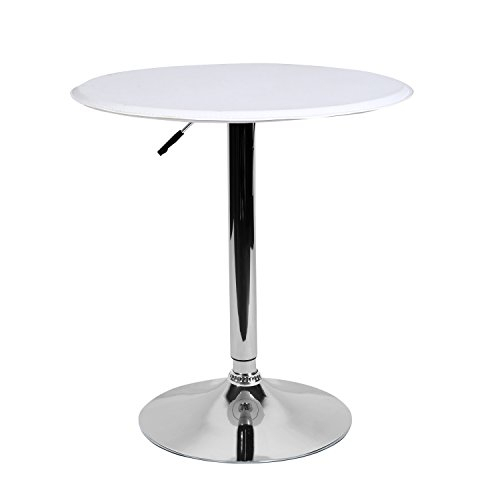 """Lch 23.6"""" Pu Top Adjustable Round Dining Bar Table Kitchen Within 2017 Anzum (View 4 of 15)"""
