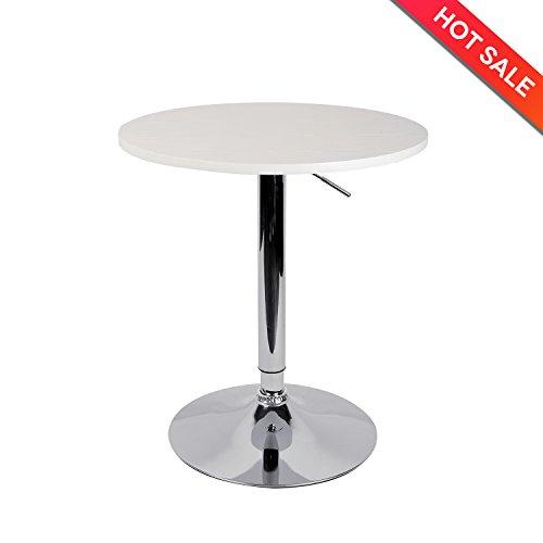 "Lch 23.6"" Round Dining Bar Table Adjustable 360 Swivel Regarding Most Popular Anzum 23.6'' Dining Tables (Photo 8 of 15)"