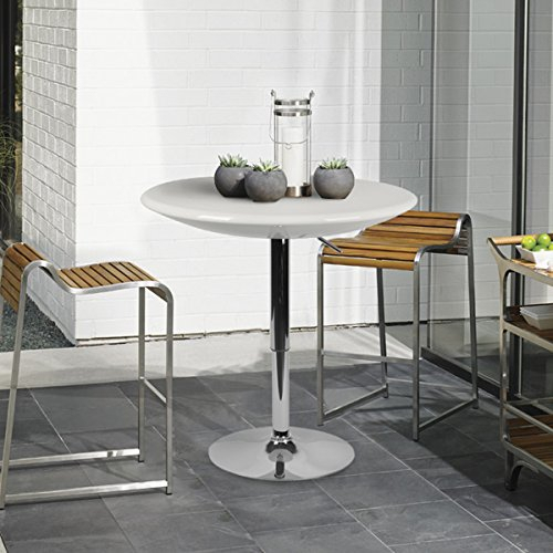 """Lch 23.6"""" Top Adjustable Dining Bar Table Modern Round With Most Recent Anzum (View 3 of 15)"""