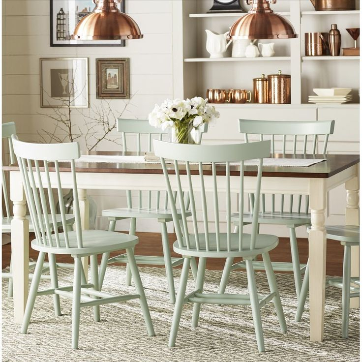 Leamont Dining Table | Solid Wood Dining Chairs, Farmhouse With Regard To Latest Leamont  (View 6 of 12)